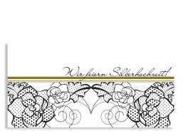 Einladung Silberhochzeit Spitze (Postkarte)