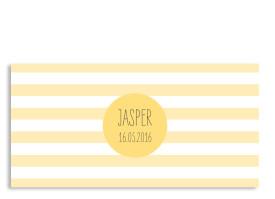 Dankeskarten zur Kommunion Lucky Stripes Gelb