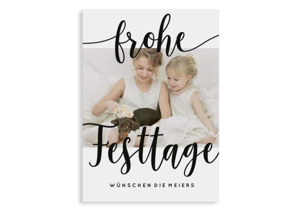 """Weihnachtskarte """"Wunsch"""" Postkarte A6"""