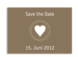 Save-The-Date-Karte Pur zur Hochzeit (Postkarte A6)