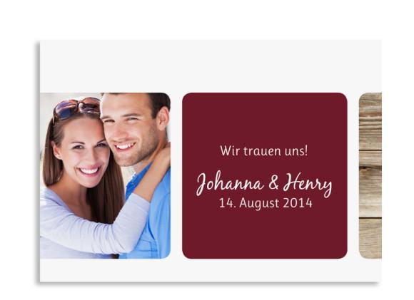 Save the Date-Karte Zürich zur Hochzeit