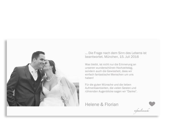 Hochzeitskarten München City, Rückseite in hellgrau