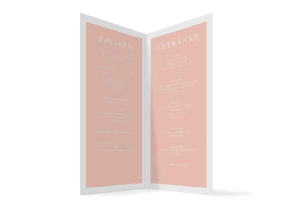Speisekarte (Klappkarte im Format DIN Lang), Motiv: Brisbane, Innenansicht, Farbvariante: apricot
