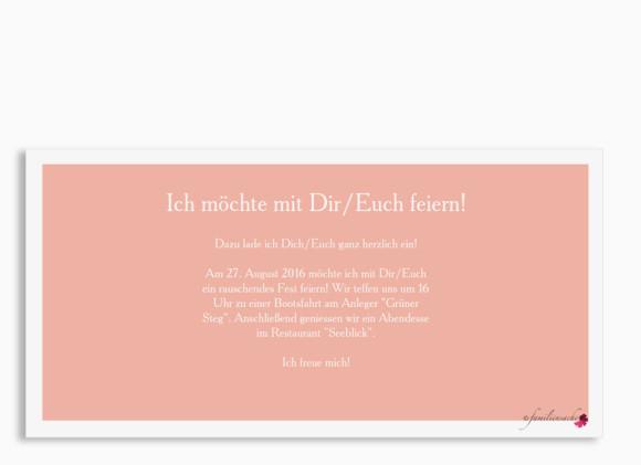 Einladung zum Geburtstags, Motiv Nizza, Postkarte DIN Lang, Rückseite, Farbversion: apricot
