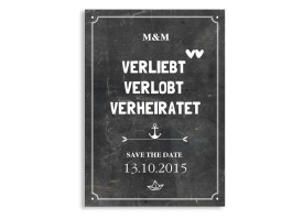 Save the Date Tafel Schwarz