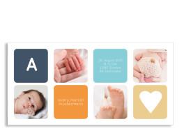 Danksagungskarten Geburt Ava/Avery (Postkarte, mit 4 Fotos)