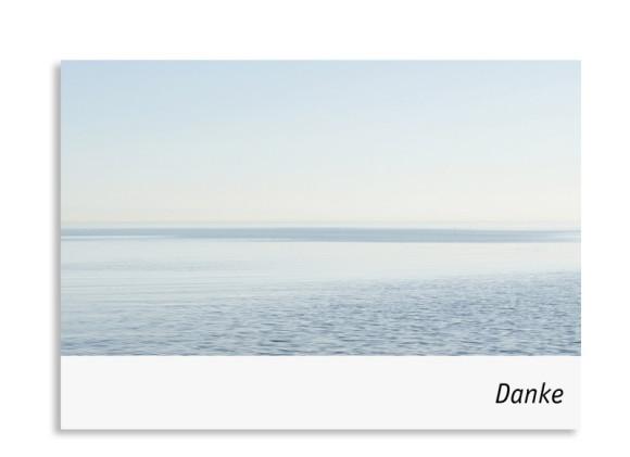 Trauer Danksagung Meer ( Postkarte)