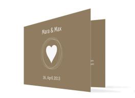 Hochzeitseinladungen Herz Pur (Klappkarte)