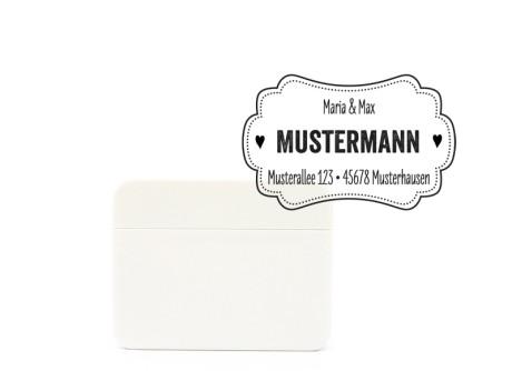 "Adressstempel ""Label Me"", Selbstfärber, ca. 61 x 28 mm"