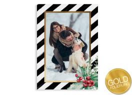 """Weihnachtskarte """"Beere"""" (Postkarte + Gold)"""