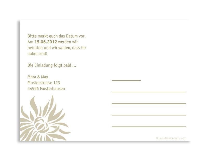 Hochzeitskarten online gestalten: Florenz | Save The Date