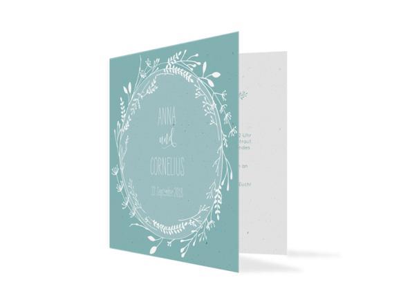 """Einladungskarte zur Hochzeit """"Blumenkranz"""""""