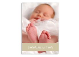 Taufkarte Chrissi/Christian (Postkarte) Beige