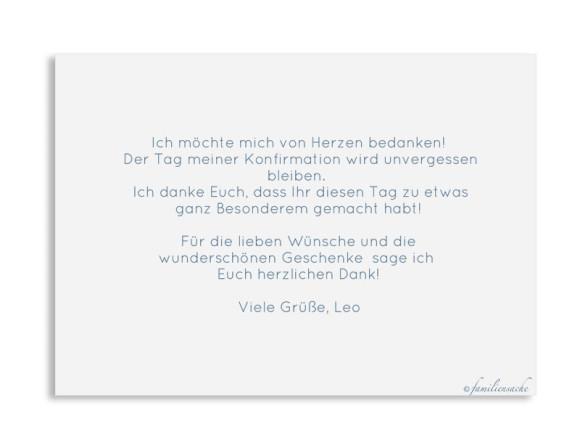 Postkarte A6 ohne Foto, Motiv: Zweig, Rückseite, Farbvariante: dunkelblau