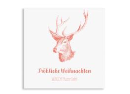 Firmen-Weihnachtskarte Pure Deer (Postkarten, quad.)