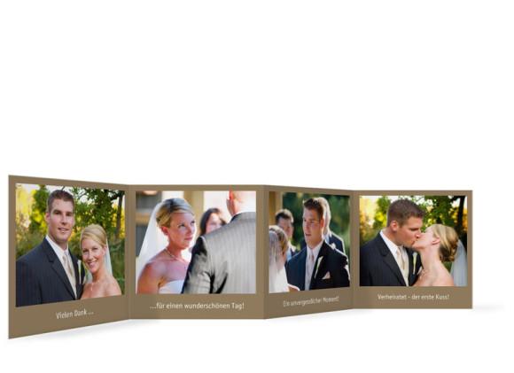 Innenansicht Foto-Leporello, Gastgeschenk, Motiv Pur, Farbversion: beige/weiß