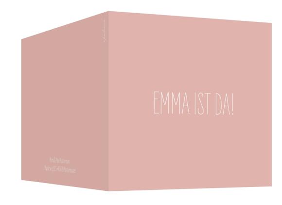 Kartenformat Klappkarte quadratisch (300 x 150 mm), Motiv: Emma/Emil, Aussenansicht, Farbvariante: apricot