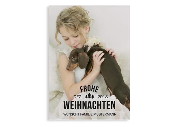 """Foto-Weihnachtskarte """"Tannenbaum"""""""