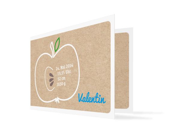 Geburtskarten Valerie/Valentin (C6-Klappkarte)