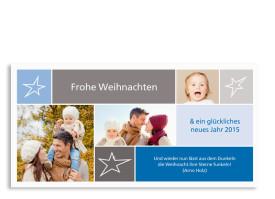 Weihnachtskarten Neo (Postkarte) Blau