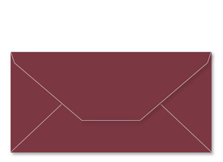 Umschlag im Format DL (220 x 110 mm), bordeaux