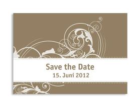 Save-The-Date-Karte Paris zur Hochzeit (Postkarte A6) Beige
