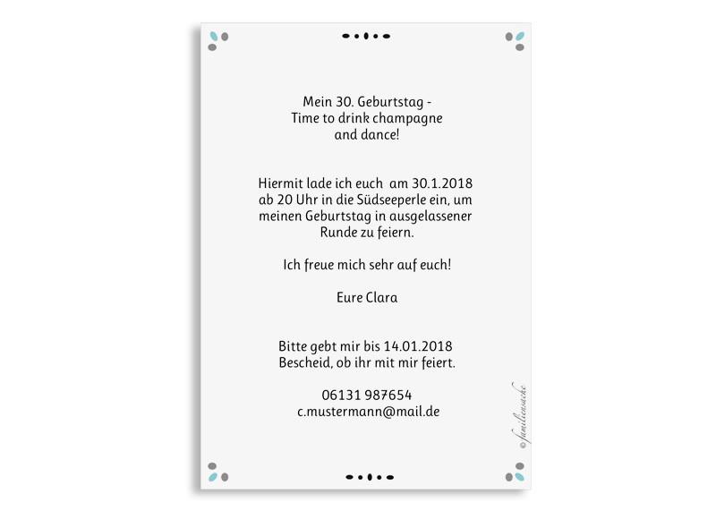 Einladung Zum 30 Geburtstag Konfetti