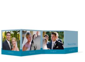 Hochzeitkarte Helsinki als Leporello (Gastgeschenk) Blau