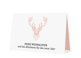 Weihnachtsgrüße für Firmen Origami (ohne Logo)