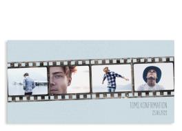 """Einladungskarte zur Konfirmation """"Weg"""" (Postkarte DL Fotos)"""