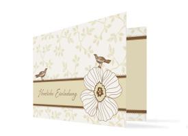 Geburtstagskarte Birdy Beige/Braun