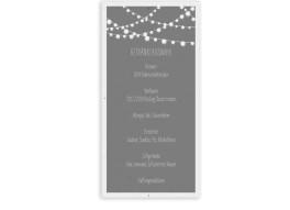 Menükarte zur Hochzeit Lichterkette