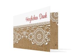 Dankeskarte zur Hochzeit Heidelberg (Klappkarte)