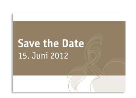 Save-The-Date-Karte Oslo zur Hochzeit (Postkarte A6) Beige