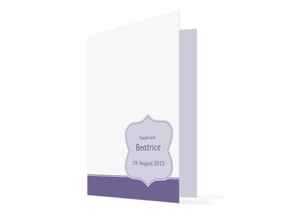 Kirchenheft Beatrice/Benjamin (Klappkarte)