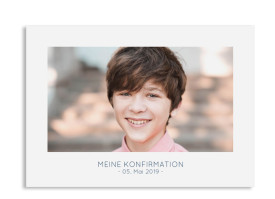 "Konfirmationseinladungen ""Ausblick"" (Postkarte) dunkelblau"