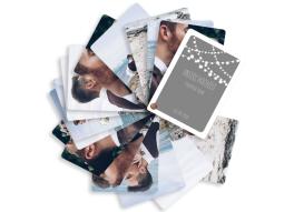 Fotofächer Lichterkette mit 15 Fotos