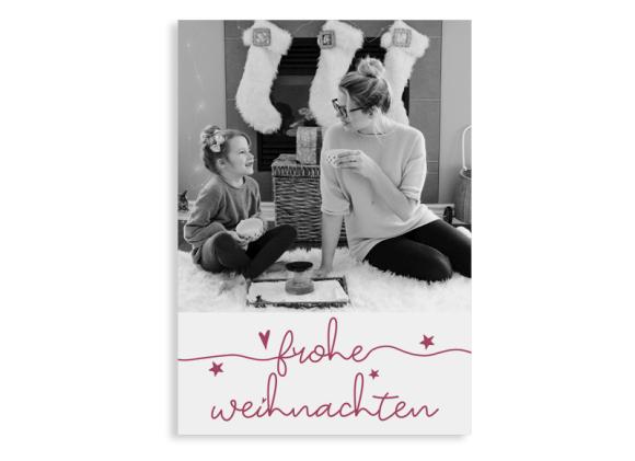"""Weihnachtsgrüße """"Fröhliche Weihnachten"""" (Postkarte A6 hoch)"""