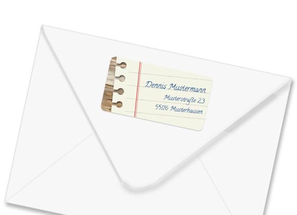 Adressaufkleber Notizzettel