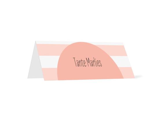Tischkarten zur Kommunion Lucky Stripes