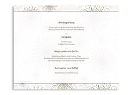 Windlicht Mandala als Menükarte zur Hochzeit