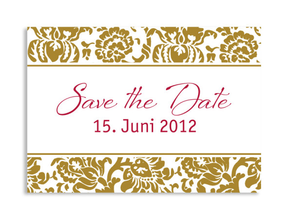 Save-The-Date-Hochzeitskarte Barcelona (Postkarte A6)