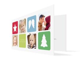 Weihnachtskarte Ava/Avery (Klappkarte) Rot