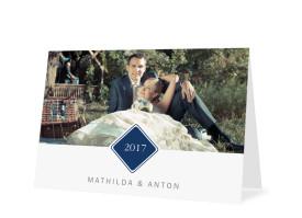 Hochzeitsdanksagungen Brüssel Blau