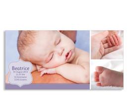 Geburtskarte Beatrice/Benjamin (Postkarte, DIN Lang)