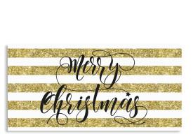 Weihnachtskarten Copper (Postkarte) Gold