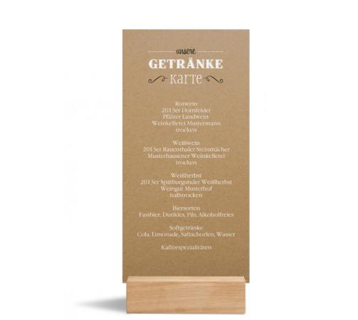 Menükarte (Postkarte DL), Motiv: Rotterdam natural, Rückseite, Farbvariante: schwarz