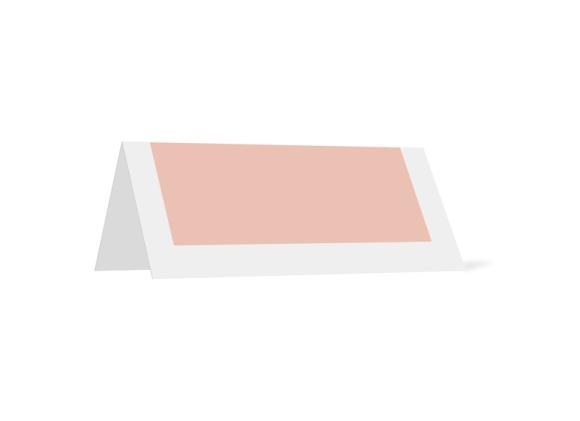 Tischkarten, Motiv: Brisbane, Rückseite, Farbvariante: apricot