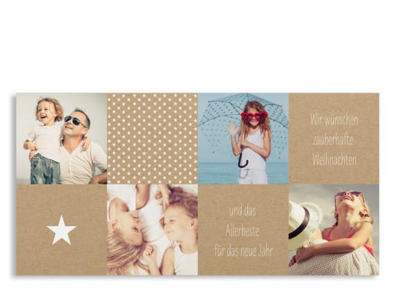 Weihnachtskarte Sternchen