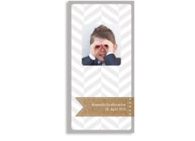 Konfirmationsdanksagung Pattern (Postkarte hoch) Beige
